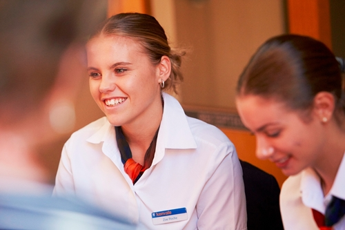 Learning hands-on skills during paid work is a big part of college life at Kenvale.
