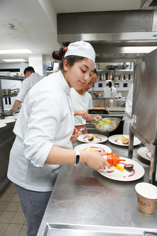 Develop your skills in an overseas kitchen.