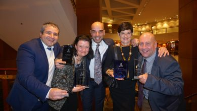 Kenvale's clean-sweep at the 2019 Tourism Training Australia Awards night.